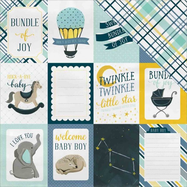 Carta Bella rock a bye Baby journaling cards