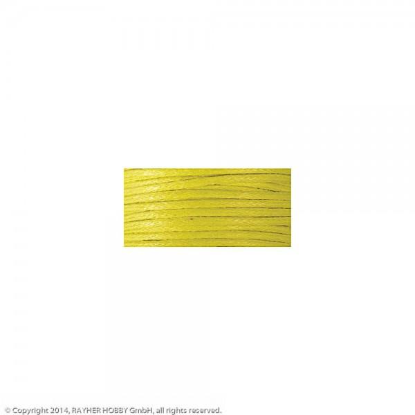 Baumwollkordel, gewachst gelb