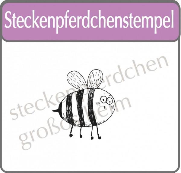 Steckenpferdchenstempel Biene Maura