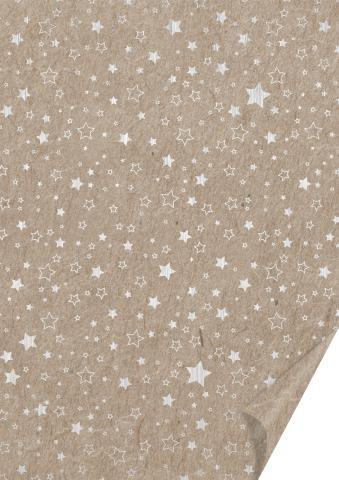 Naturkarton Sterne silber