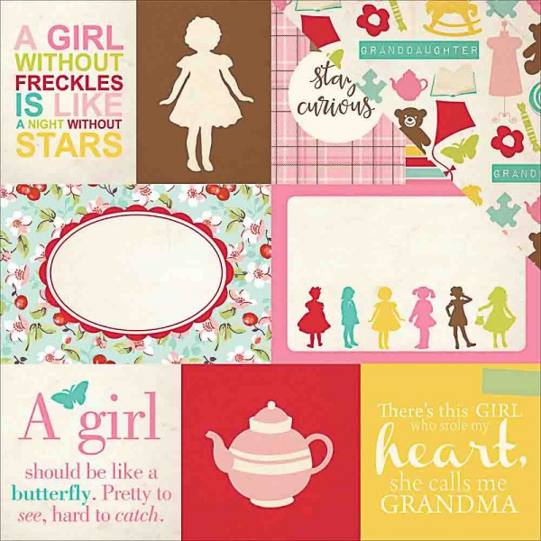 Echo Park Granddaughter Journaling cards