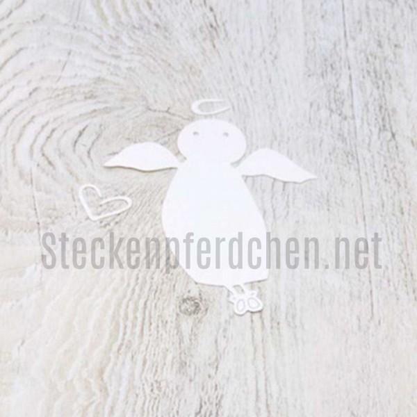 Steckenpferdchenstanze Engel mit Heiligenschein