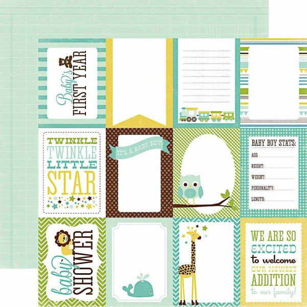Echo Park Bundle of Joy Boy journaling cards