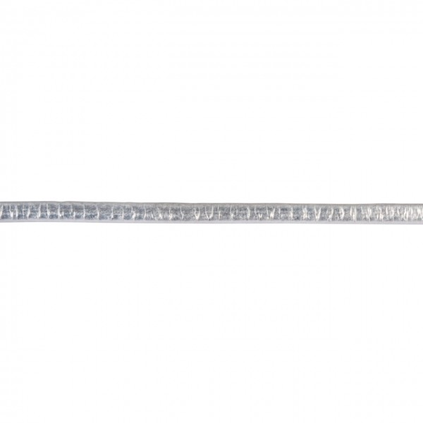 Rayher Kunstlederband Metallic flach silber