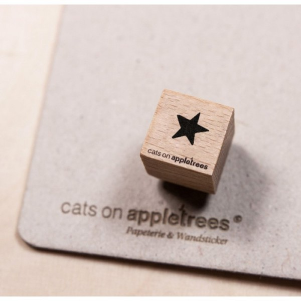 cats on appletrees Ministempel Stern