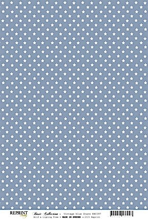 Reprint Basic Collection Stars vintage blue