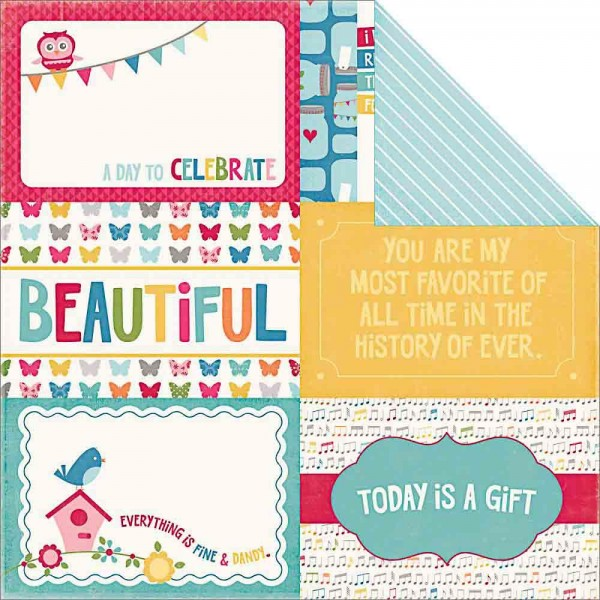 Echo Park Fine and Dandy 4 x 6 Journaling cards