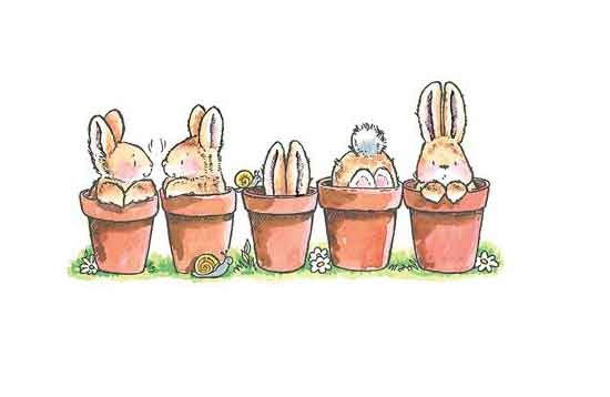 Penny Black Holzstempel bunny friends