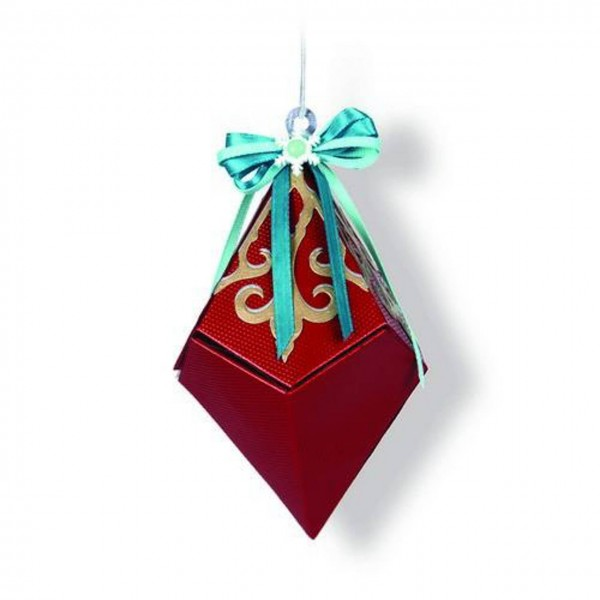 Sizzix Thinlits snowflake diamond box