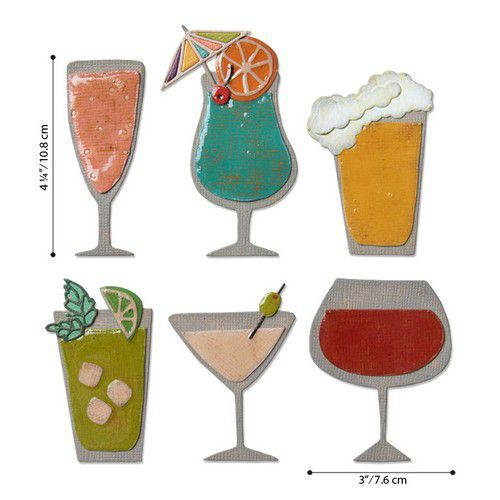Sizzix Tim Holtz Thinlits Happy Hour