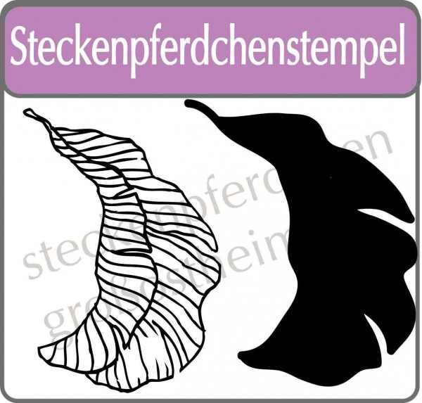 Steckenpferdchenstempel tropical leave Set 1