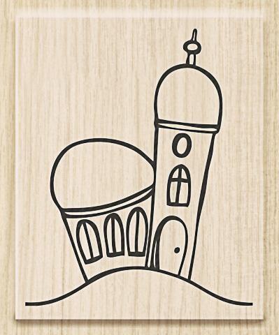 Knorr Prandell Holzstempel Kirche