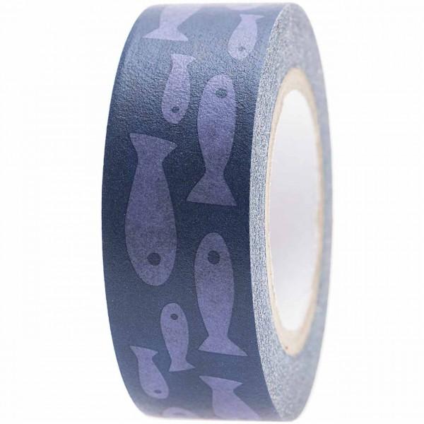 Rico Paper Poetry Tape Fische blau