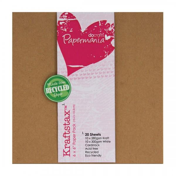 Docrafts Papermania Kraftstax 6 x 6 Paper Pad