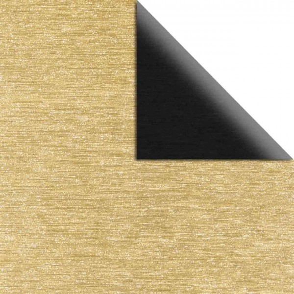 Rayher Papier Metalleffekt gebürstet schwarz/gold