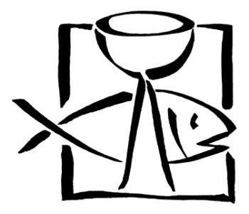 Butterer Holzstempel Kelch und Fisch