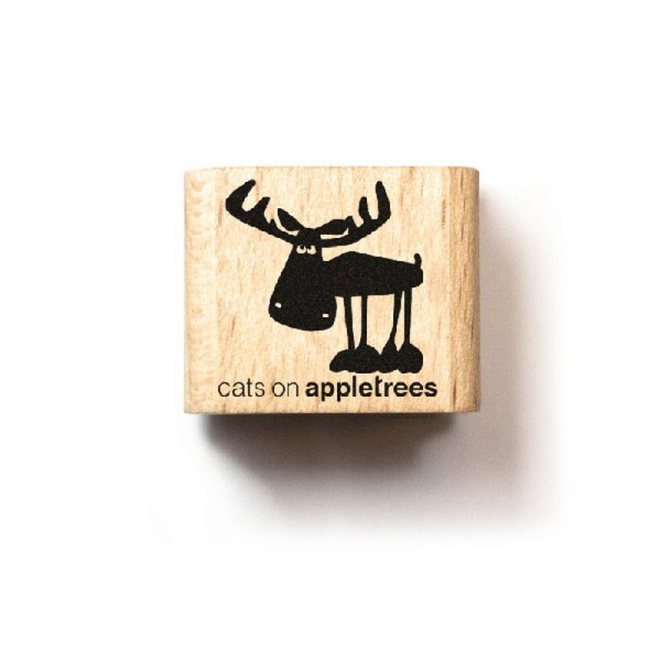 cats on appletrees Ministempel Elch Heinrich