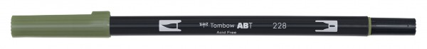 Tombow Dual Brush Pen - Gray Green - Graugrün