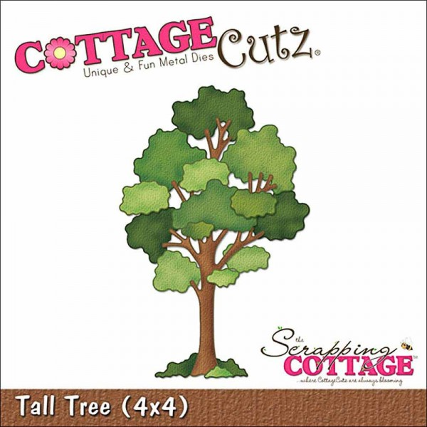 Scrapping Cottage Cutz 4x4 inch Tall Tree