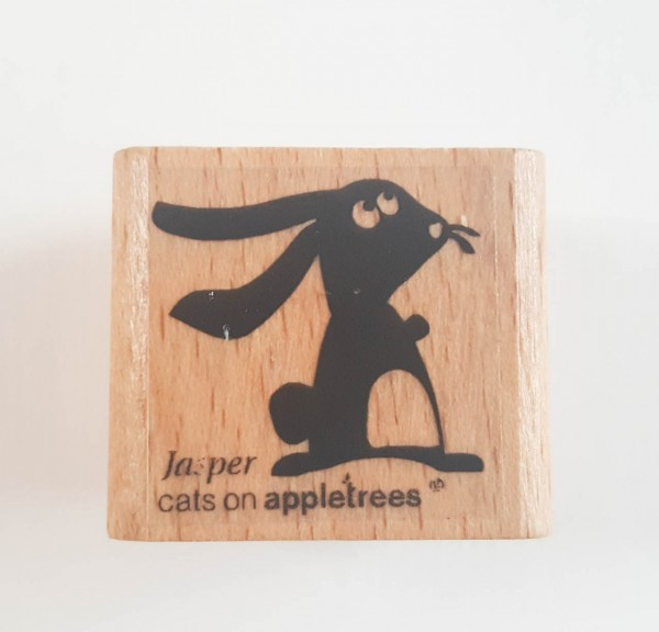 cats on appletrees Holzstempel Hase Jasper