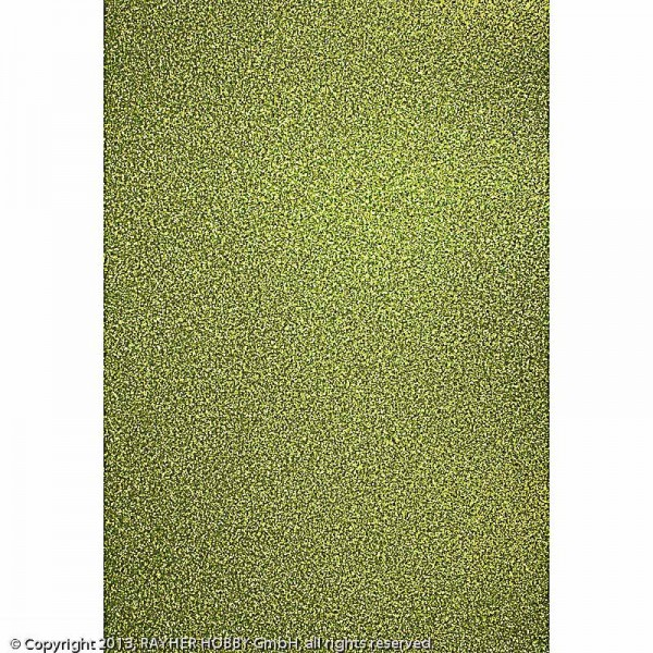 Glitterkarton maigrün