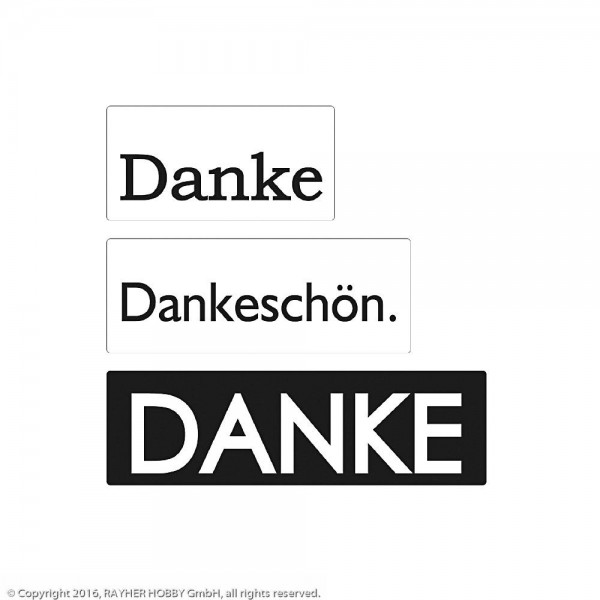 Rayher Labels D Danke