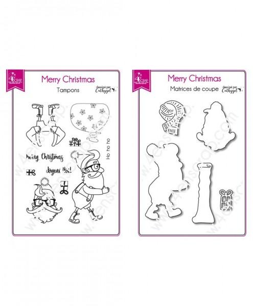 5en Scrap Stanz- und Stempelset Merry Christmas