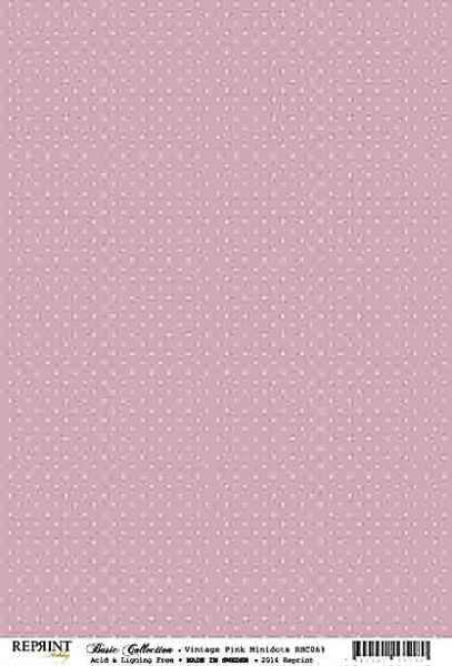 Reprint Hobby Basic Collection Vintage Pink Minidots