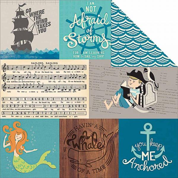 October Afternoon Treasure Map Paper Mermaid Bay