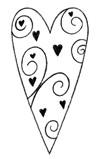 Holzstempel Butterer Herz