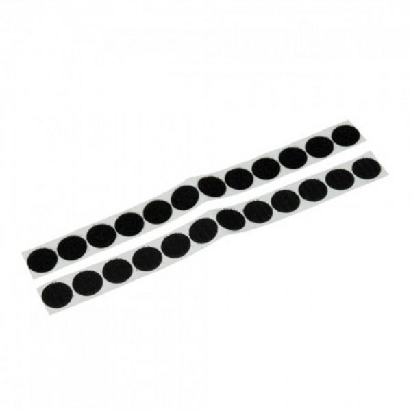 Klettpunkte rund schwarz 20 mm