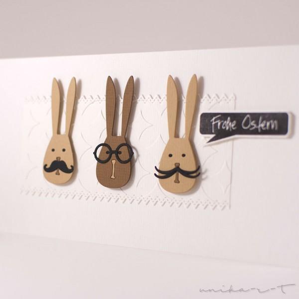 Steckenpferdchenstanze Hase mit Brille