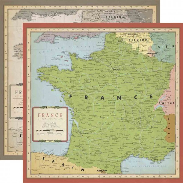 Carta Bella Cartography No. 1 France Map