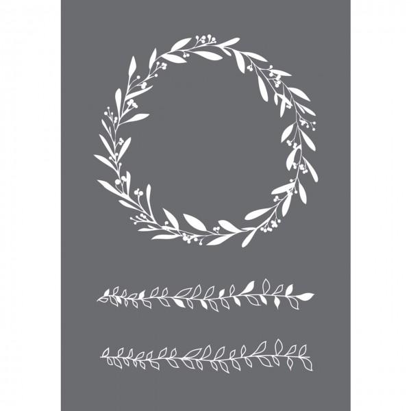 Rayher Siebdruck-Schablone Blätterranken A5