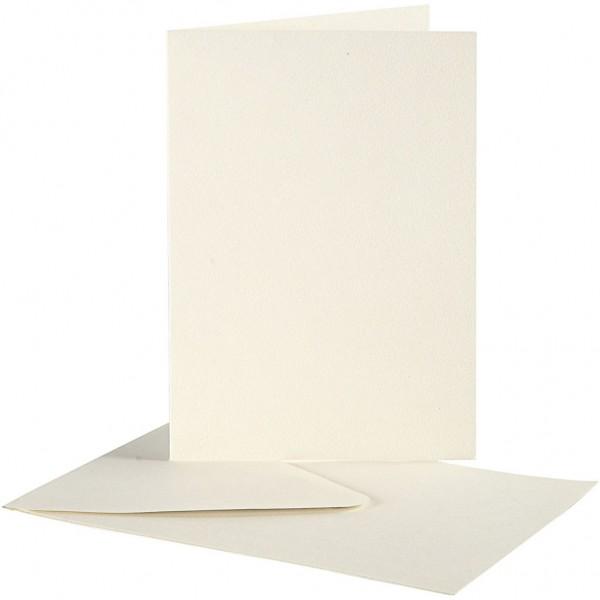 Kartenset Büttenpapier 10,5 x 15 cm