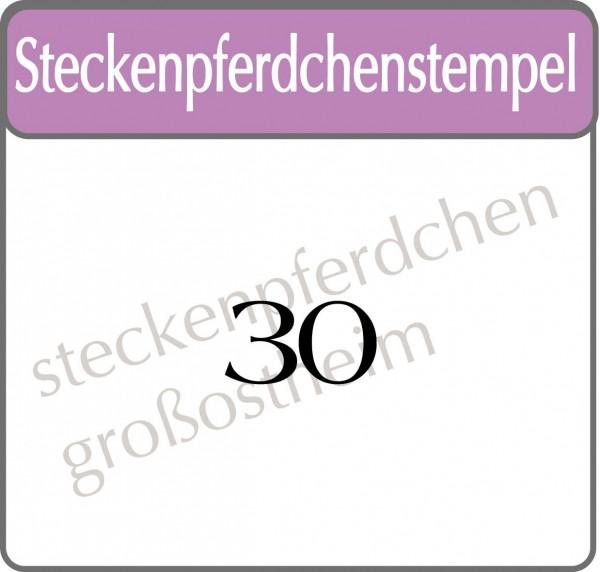 Steckenpferdchenstempel 30