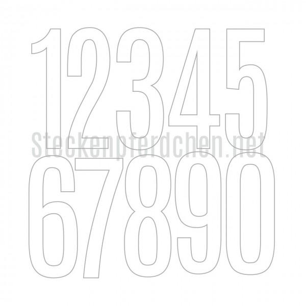 Steckenpferdchenstanze Zahlen XL