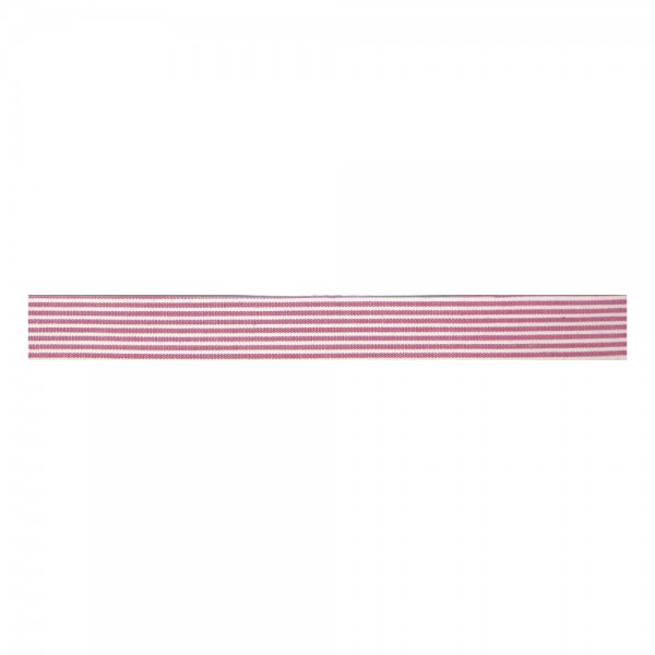 Rayher Fabric Tape Streifen weiß/rosa