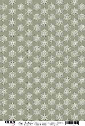 Reprint Basic Collection Vintage green Snowflakes