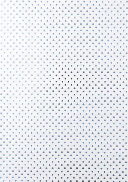 Kreativblatt Sternenteppich frosty blue