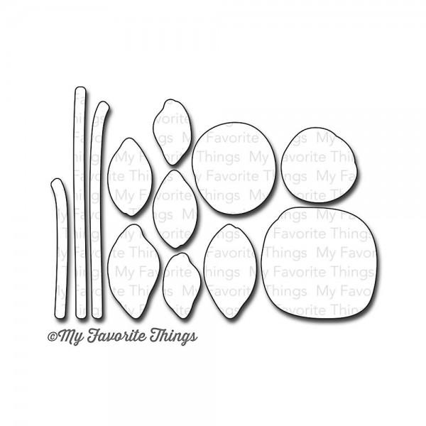 Die namics Steel Die circle scribble flowers