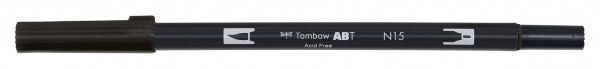 Tombow Dual Brush Pen - Black - Schwarz Farbnr. N15