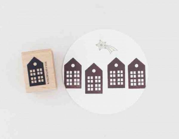 Perlenfischer Holzstempel Haus