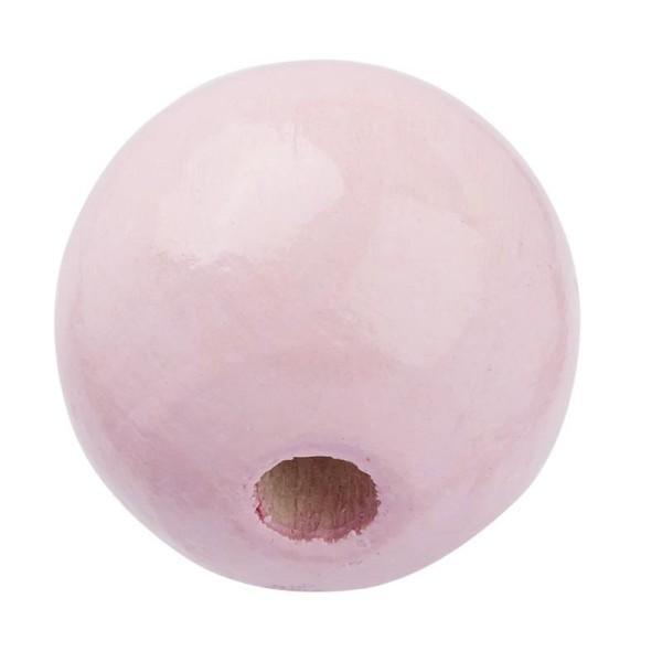 Schnulli Holzperlen 12 mm rosa