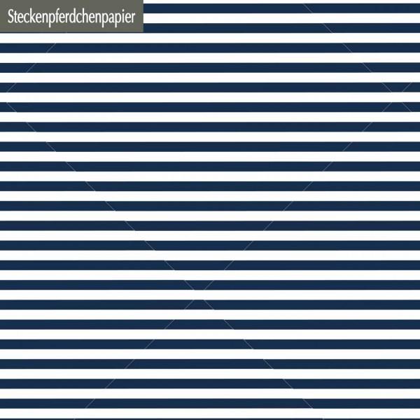 Steckenpferdchenpapier Blockstreifen jeansblau