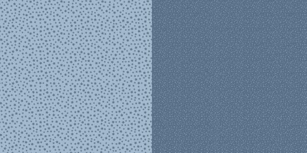 Dini Design Papier kleine Punkte/Blumen Schwedenblau