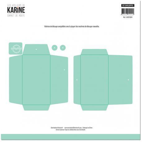 Karine - Carnet de Route - Stanzdie Set Enveloppes
