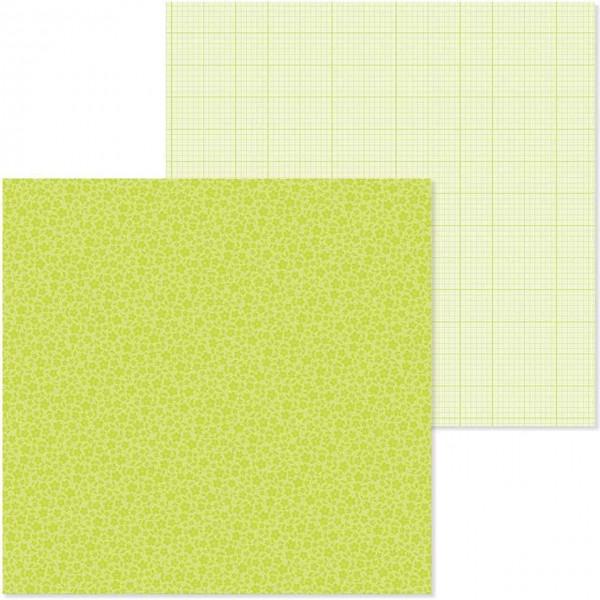 Doodlebug petite prints floral/graph citrus