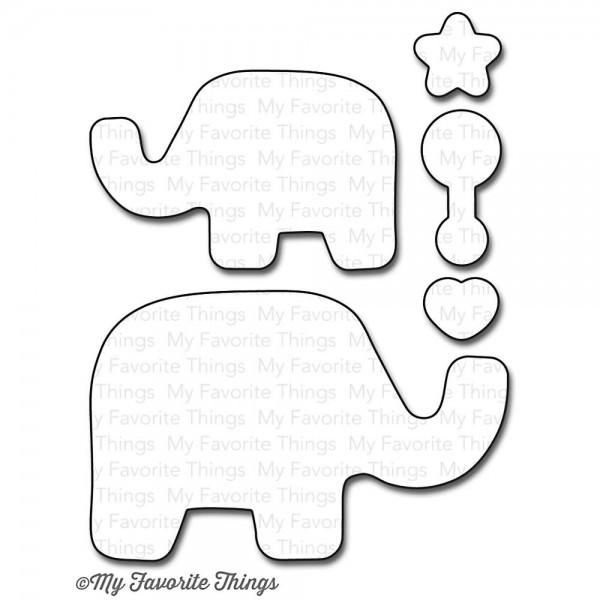Die Namics Beautiful Baby Elephant