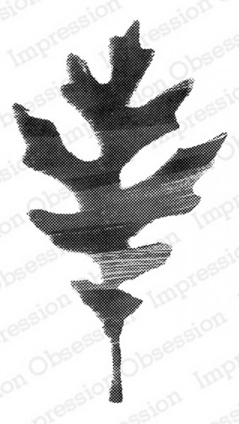 Impression Obsession Holzstempel painted leaf 3